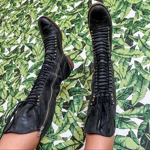 joie / refugee rate combat lace up moto boots